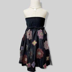 Hmong Black Mesh Skirt WITH Matching Scrunchies